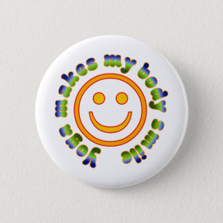 Yoga Makes My Body Smile Health Fitness New Age 6 Cm Round Badge