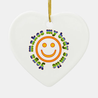 Yoga Makes My Body Smile Health Fitness New Age Christmas Tree Ornament