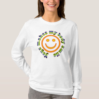 Yoga Makes My Body Smile Health Fitness New Age T-Shirt