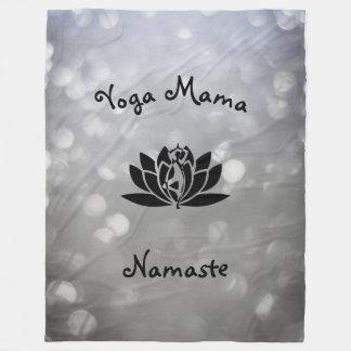 Yoga Mama Namaste design Fleece Blanket