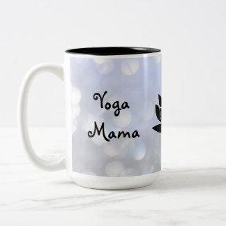 Yoga Mama Namaste design Two-Tone Coffee Mug