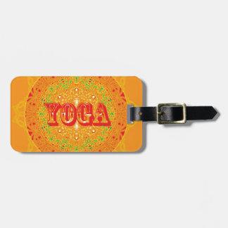 Yoga Mandala Design Luggage Tag