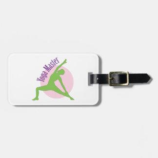 Yoga Master Luggage Tag