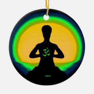Yoga Meditation Christmas Ornament