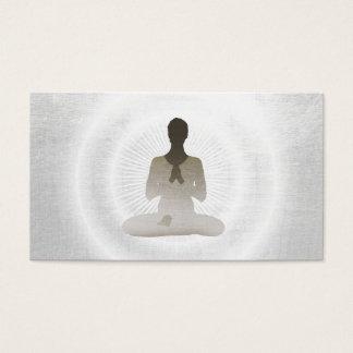 Yoga & Meditation Elegant Silver Business Card