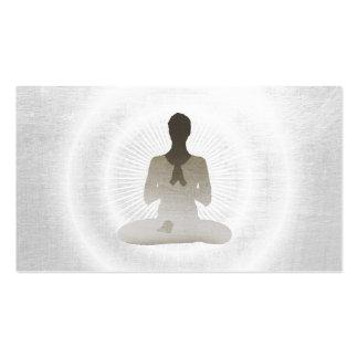 Yoga & Meditation Elegant Silver Pack Of Standard Business Cards