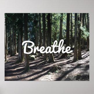 "Yoga & Meditation Forest ""Breathe"" Spirit Poster"