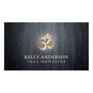 Yoga & Meditation Gold Om Mantra Dark Gray Pack Of Standard Business Cards