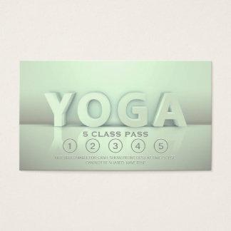 Yoga Meditation Instructor Class Pass 3D Text Look Business Card