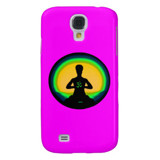 Yoga Meditation - Pink iPhone Case Galaxy S4 Case