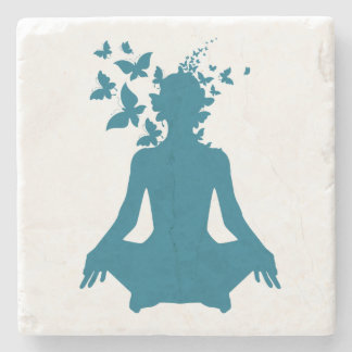 yoga meditation positive energy  peace of mind fre stone coaster