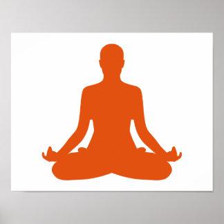 Yoga meditation print