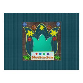 YOGA Meditation Script ART Mandala ShowCase GIFTS Postcard