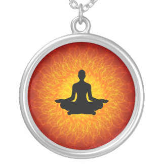 Yoga - Meditation Silver Plated Necklace