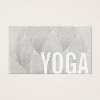 Yoga & Meditation Teacher Elegant Lotus Floral Business Card