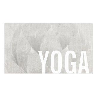 Yoga & Meditation Teacher Elegant Lotus Floral Pack Of Standard Business Cards