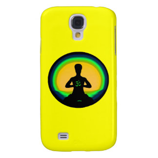 Yoga Meditation - Yellow iPhone Case Galaxy S4 Case
