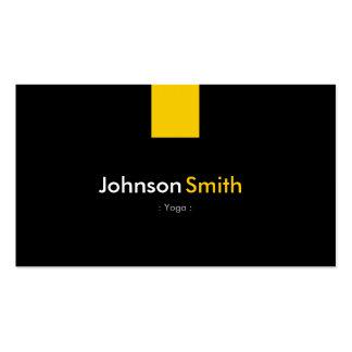 Yoga - Modern Amber Yellow Business Card Template