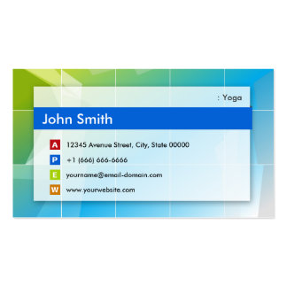 Yoga - Modern Multipurpose Pack Of Standard Business Cards