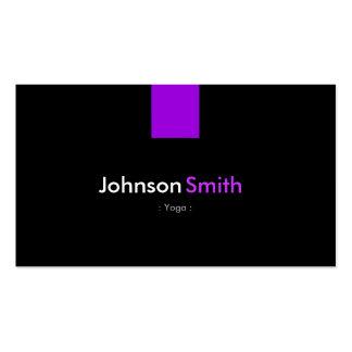 Yoga - Modern Purple Violet Pack Of Standard Business Cards