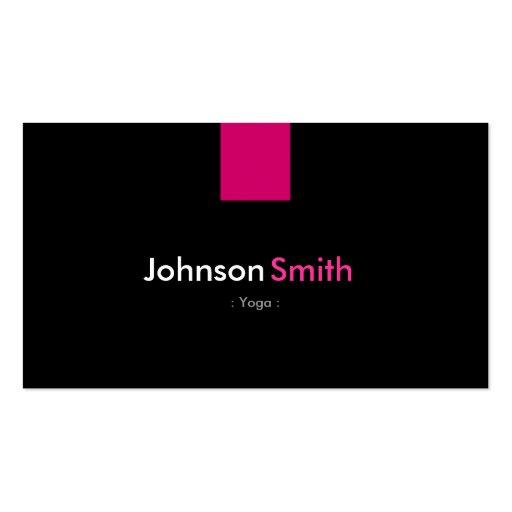 Yoga Modern Rose Pink Business Card
