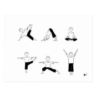 Yoga Moga postcard