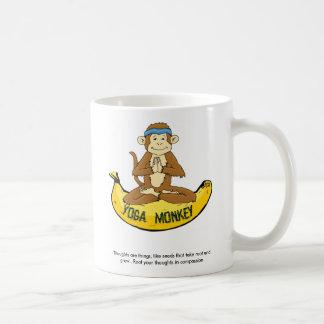 Yoga Monkey Basic White Mug