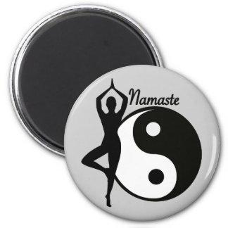 Yoga Namaste 6 Cm Round Magnet