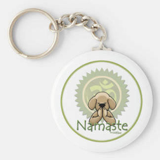 Yoga - Namaste Basic Round Button Key Ring