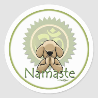 Yoga - Namaste Classic Round Sticker