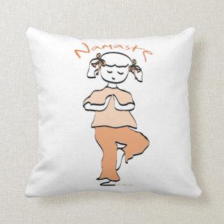 Yoga Namaste Young Girl Cushion