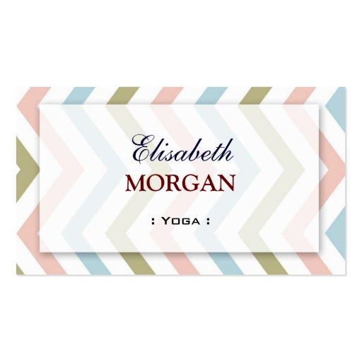 Yoga - Natural Graceful Chevron Business Card Template