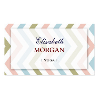 Yoga - Natural Graceful Chevron Pack Of Standard Business Cards