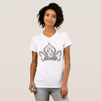 Yoga Octopus and Ohm Black Henna Style Paisley T-Shirt