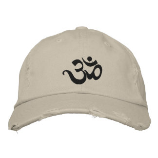 Yoga Om Embroidered Cap