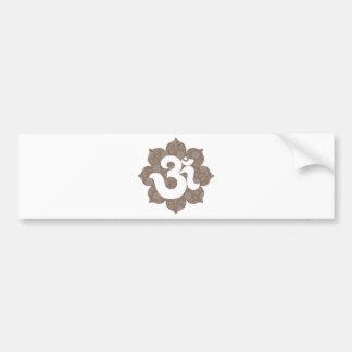 Yoga Om in Lotus brown gray Bumper Sticker