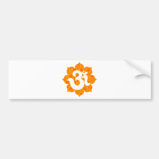 Yoga Om in Lotus orange Bumper Sticker