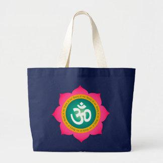 Yoga Om Namaste Lotus Organic Tote Bag