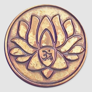 Yoga Om Symbol Classic Round Sticker