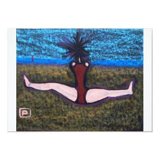 YOGA ON THE BEACH 13 CM X 18 CM INVITATION CARD
