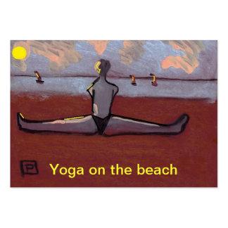 Yoga on the beach business cards