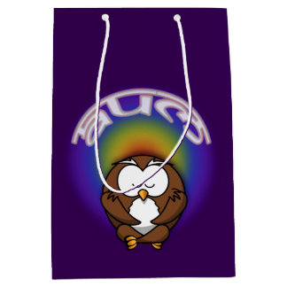 yoga owl medium gift bag