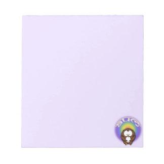 yoga owl notepad