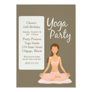 YOGA PARTY Birthday Exercise Stretching Invitation