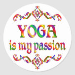 Yoga Passion Round Sticker