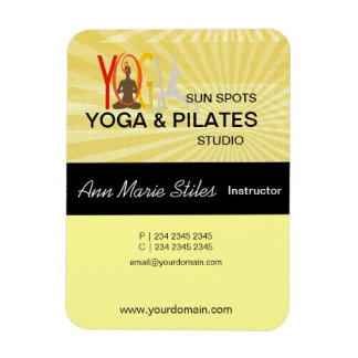 Yoga Pilates Business Rectangular Photo Magnet
