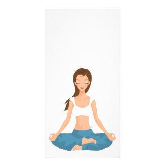 Yoga Pilates Meditation l Health & Fitness Personalized Photo Card