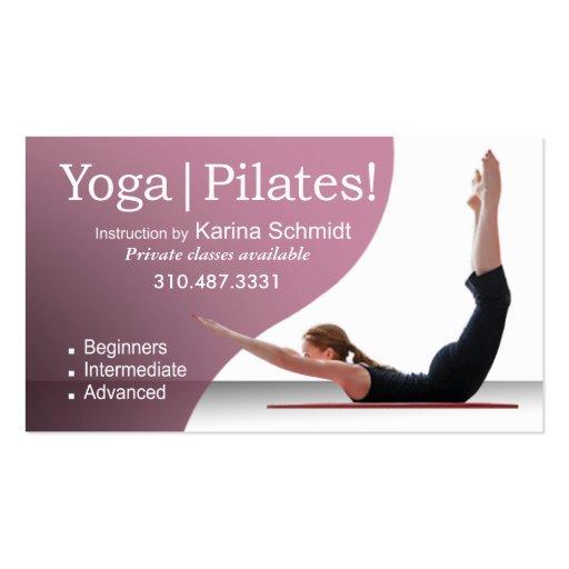 """Yoga   Pilates!"" Pilates Instruction, Yoga Class Business Card"