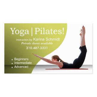 """Yoga | Pilates!"" Pilates Instruction, Yoga Class Pack Of Standard Business Cards"