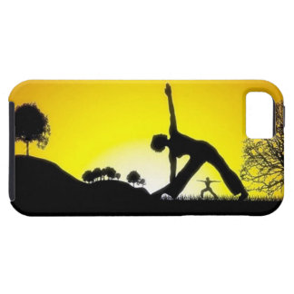 Yoga Pilates Session Out in Nature iPhone 5 Covers